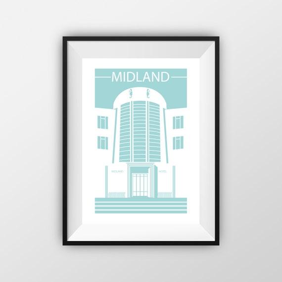 Midland Hotel - Travel Print - the jones boys