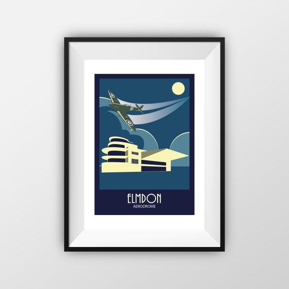 Elmdon - Airport - Travel Poster, thejonesboys - the jones boys
