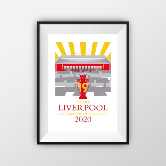 Liverpool Football Club - LFC - League Champions2020 - Travel Poster - the jones boys