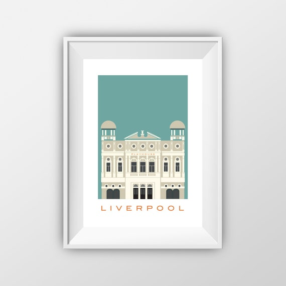 Play house Liverpool - Landmarks - Travel Poster - Embossed travel poster art print - the jones boys