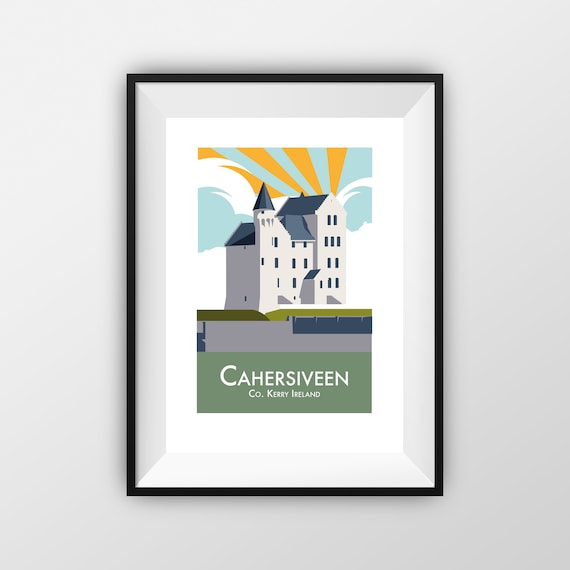 Cahersiveen - County Kerry - Travel Poster - the jones boys