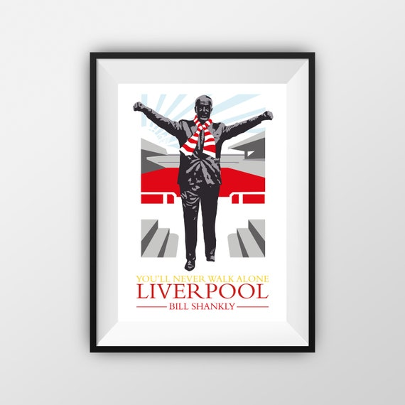 Bill Shankly - LFC - Travel Poster - the jones boys