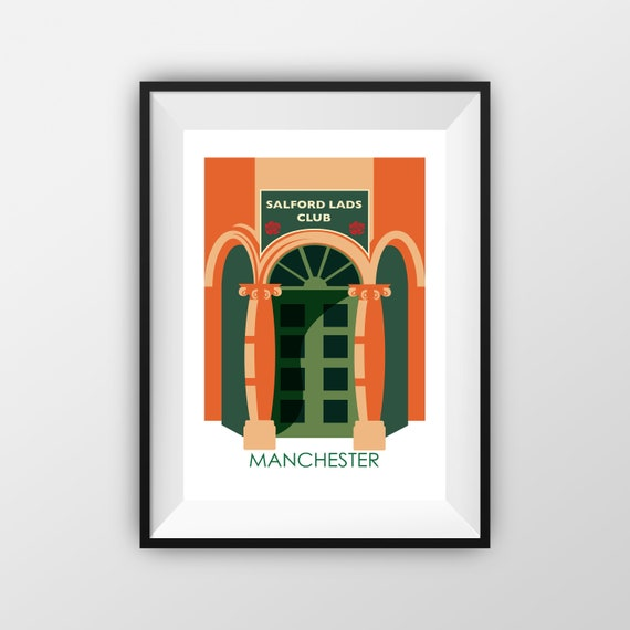 Salford Lads Club  - The Smiths - Manchester - Travel Poster, thejonesboys - the jones boys