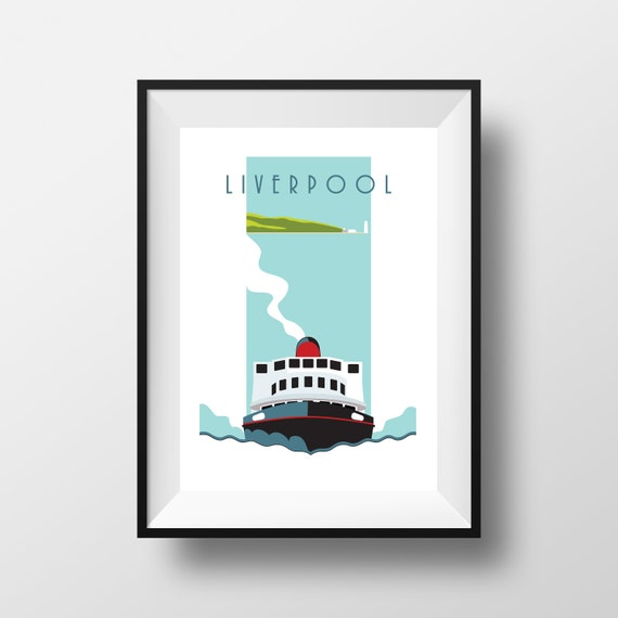 Ferry - Liverpool, Royal Iris - Snowdrop - Royal Daffodil - Travel Poster, thejonesboys - the jones boys - Mersey Ferry