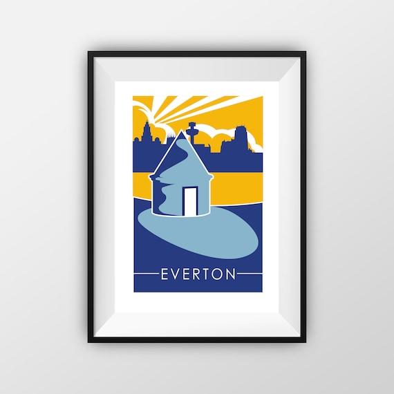 Everton print -  - Travel Print -  the jones boys