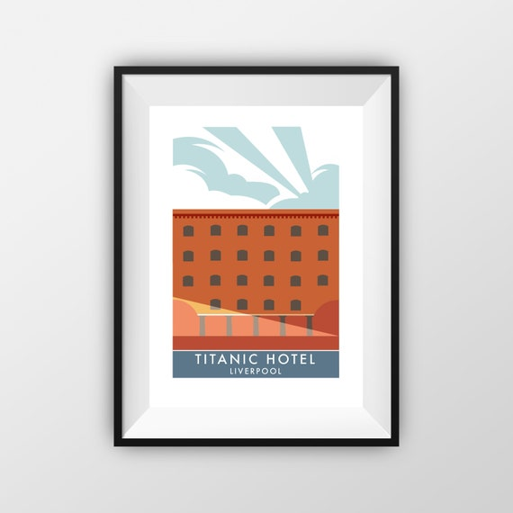 Titanic - Titanic Hotel - Landmarks - Travel Poster - Embossed travel poster art print - the jones boys