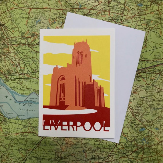 Anglican - cathedral - Liverpool - heritage - greetings card - church - Giles Gilbert Scott