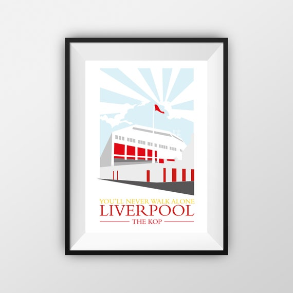 Liverpool Football Club - LFC - The Kop - Travel Poster - the jones boys