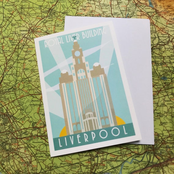 Liver Building - water front - Liverpool - greetings card - the jones boys - thejonesboys - Liverpool