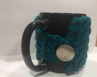 Teal Coffee Cozy