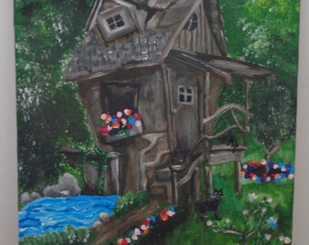 "painting- ""Mystery Shack"""