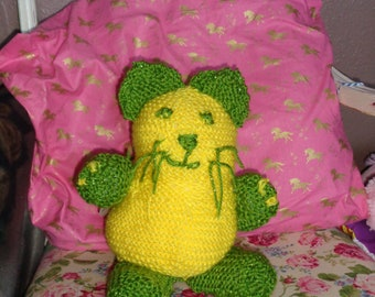 "knitted cat/collectible- ""Lemony Snippywicketts"""