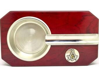 Mason Cigar Ashtray – Metallic