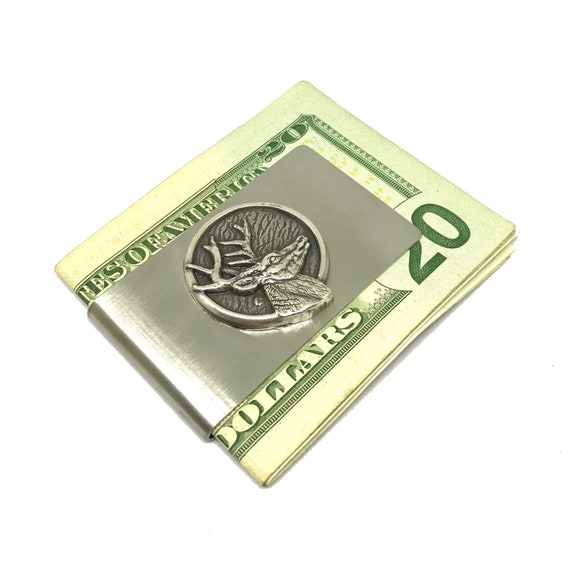 Eagle Choppers Motorcycle Biker Club Satin Chrome Plated Metal Money Clip