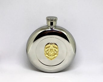 Law Enforcement Flask – Gold