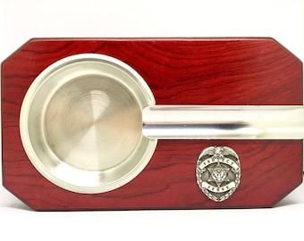 Law Enforcement Cigar Ashtray – Silver