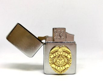 Law Enforcement Pocket Lighter – Gold