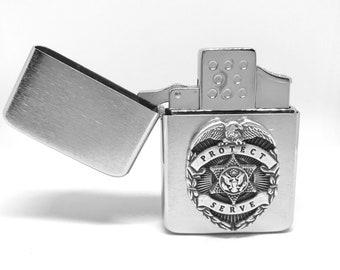 Law Enforcement Pocket Lighter – Silver