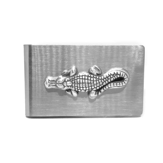 Stainless Steel Iguana Money Clip Credit Card Holder
