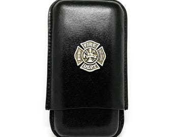 Fireman's Cross Cigar Case – Metallic