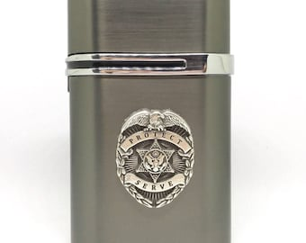 Law Enforcement Desktop Lighter – Silver
