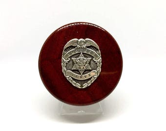 Law Enforcement Wine Stopper – Silver