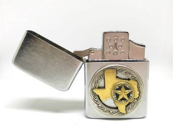 State of Texas Pocket Lighter – Two-Tone