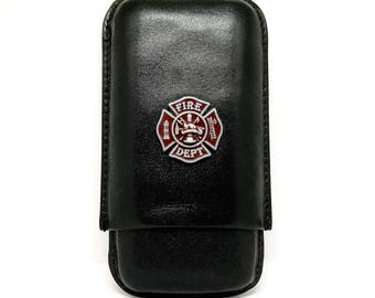 Fireman's Cross Cigar Case – Red