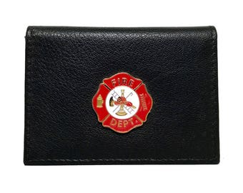 Fireman Business Card Case – Red Enamel