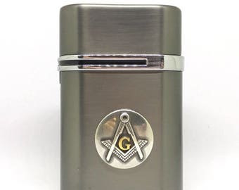 Mason Desktop Lighter – Metallic