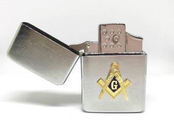 Mason Pocket Lighter – Gold Cut-Out