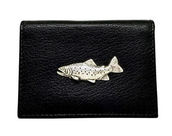 Trout Fishing Business Card Case
