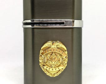 Law Enforcement Desktop Lighter – Gold