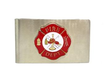 Fireman's Cross Money Clip – Red Enamel