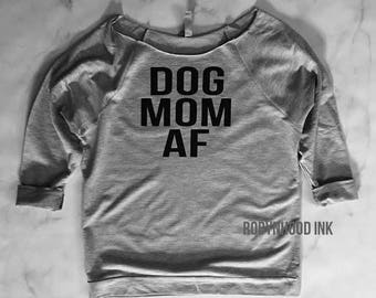 Dog Mom Af 3/4 sleeve Sweater, Dog Shirt, Dog Mom, Fur Mama, Fur Baby, Dog Mom Proud, Love dogs sweater,