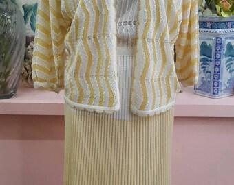 Belle 80 tricoté au crochet robe et veste tailleur