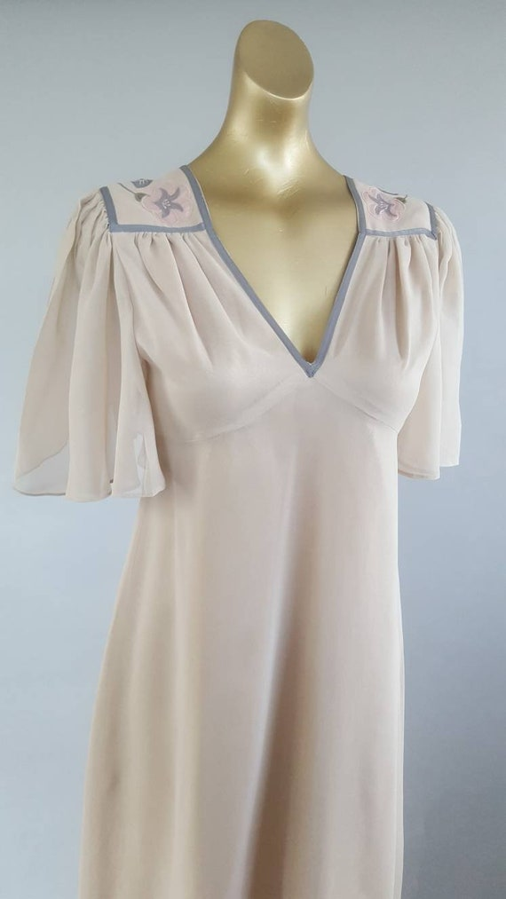 Stunning 70s designer collectible maxi dress from