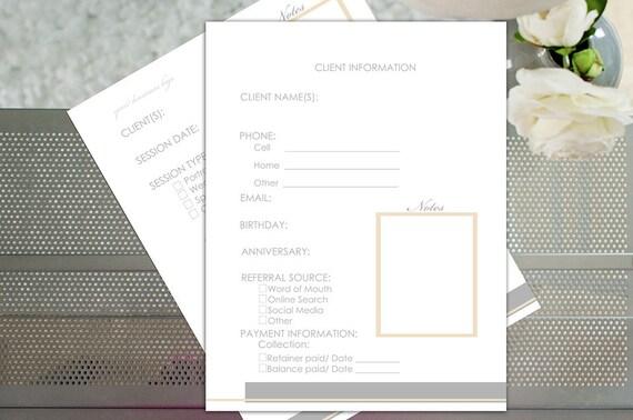 Ähnliche Artikel wie Kunden-Informationsblatt | Fotografie-Workflow ...