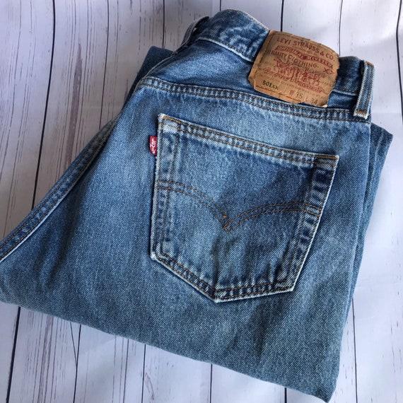 90eee544a31 Vintage Levis 501 Size 35Jeans Denim Boyfriend Fit Jeans High