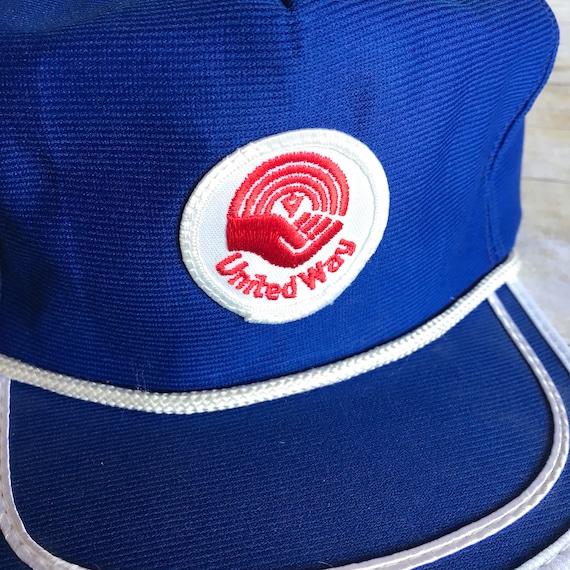 Vintage United Way Snap Back Hat Blue Hat Baseball Cap  dda1ec827a4d