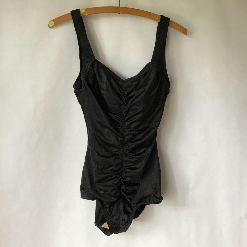 11a6880ae2e9 Vintage Black Bathing Suit Anne Cole Size 10 Medium