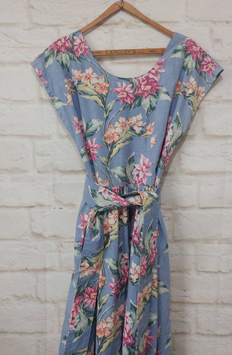 Vintage Reyn Spooner Hawaiian Dress - Plus Size Medium Shift Dress - Aloha  Tropical