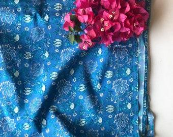 Lotus Print Fabric Etsy