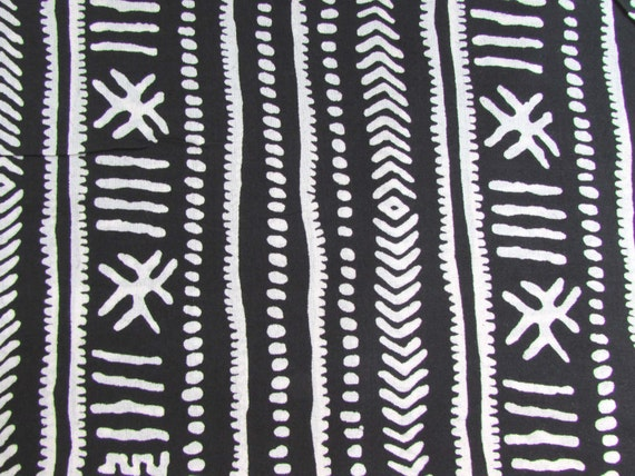 Black And White Print Quilt Fabric
