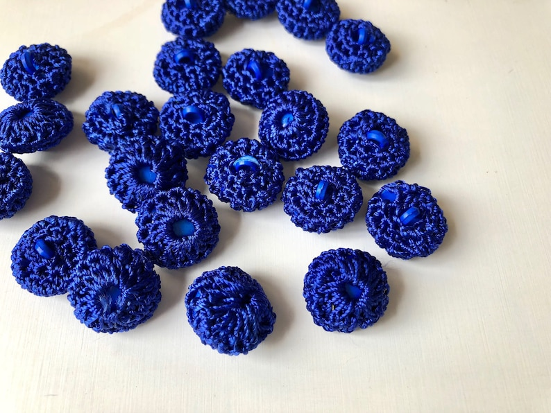 ee7f35c2a87 Crocheted blue buttons shank sewing buttons crochet buttons etsy jpg  794x596 Blue buttons