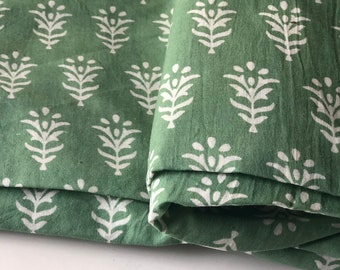 Indian Block Print, Indian cotton, Hand stamped printing, by the yard, Indian Fabric, Peace Block Print Fabric, sewing and quilting fabric