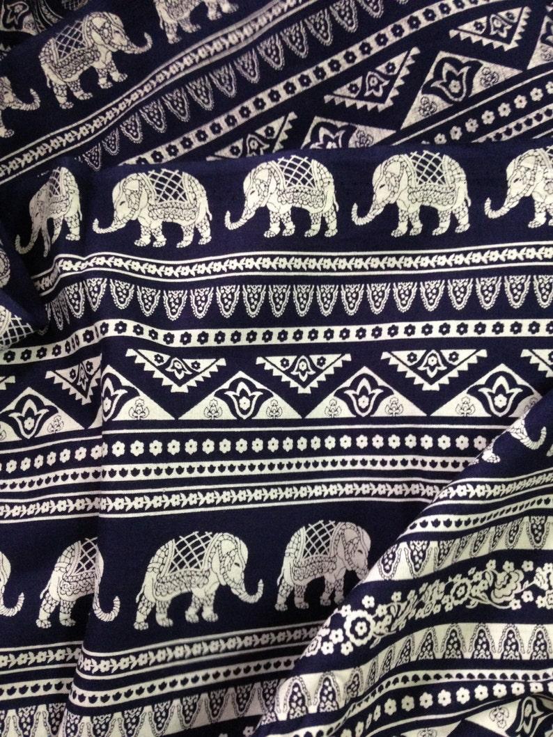 Elephant Print Fabric Boho Fabric By the yard Alternate image 0