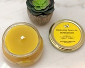 Peppermint Beeswax Candle - Essential Oil Candle