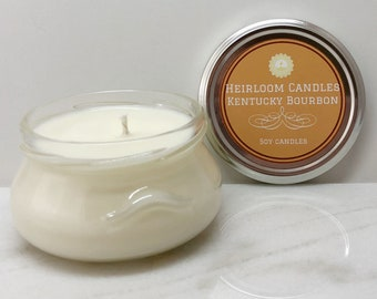 Kentucky Bourbon Soy Candle - Gift for Him, Gift for Man, Liquor Candle, Whiskey Candle, Drinking Buddy Gift, Alcohol Gift, Best Friend Gift