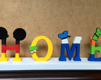 Teacher Free-Standing Custom Made to Order Letter Decor Hand-painted High 4 in